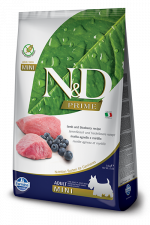 Корм для собак N&D мини эдалт беззерновой ягненок с черникой